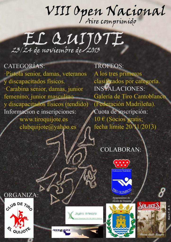 """Cartel del VIII Open de Aire Comprimido """"El Quijote"""""""