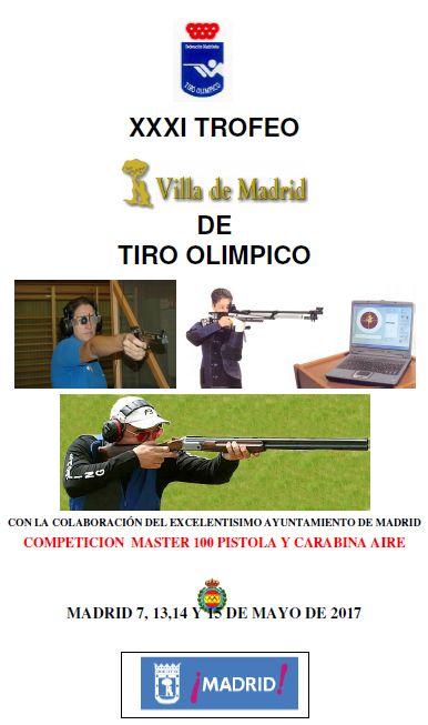 Cartel XXXI Trofeo Villa de Madrid de Tiro Olímpico